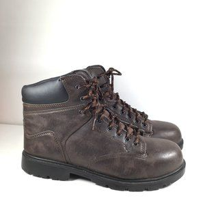 Brahma Men Raid Steel Toe Work Boot Brown Size 13
